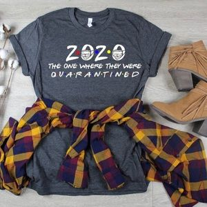 Tops - Bella Canvas Tee 2020 Where They Were Quarantined